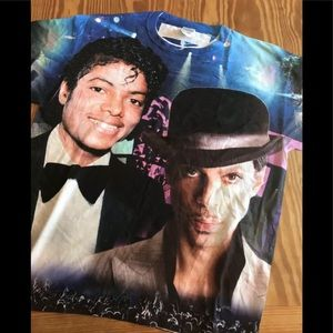 Prince & Michael Jackson Shirt Men's Size Large